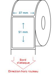 37 mm X 51 mm Étiquettes à rouleaux