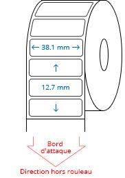 38.1 mm x 12.7 mm Étiquettes à rouleaux