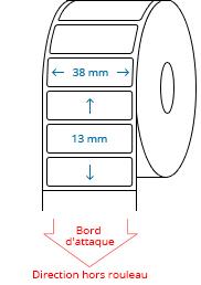 38 mm x 13 mm Étiquettes à rouleaux