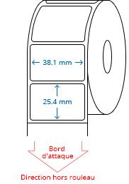 38.1 mm x 25.4 mm Étiquettes à rouleaux