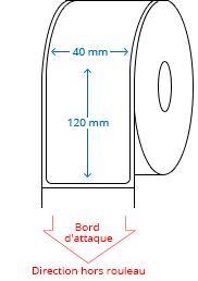 40 mm x 120 mm Étiquettes à rouleaux