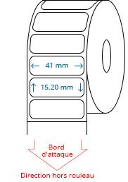 41 mm x 15.2 mm Étiquettes à rouleaux