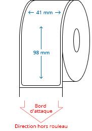 41 mm x 98 mm Étiquettes à rouleaux
