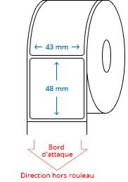 43 mm x 48 mm Étiquettes à rouleaux
