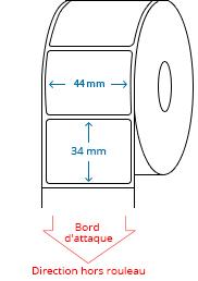 44 mm x 34 mm Étiquettes à rouleaux