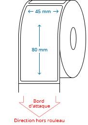 45 mm x 80 mm Étiquettes à rouleaux