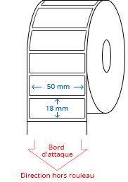 50 mm x 18 mm Étiquettes à rouleaux