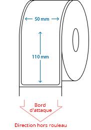 50 mm x 110 mm Étiquettes à rouleaux