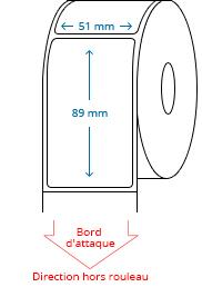 51 mm x 89 mm Étiquettes à rouleaux