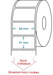 54 mm x 31 mm Étiquettes à rouleaux