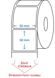 55 mm x 50 mm Étiquettes à rouleaux
