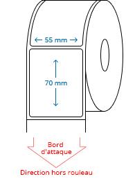 55 mm x 70 mm Étiquettes à rouleaux