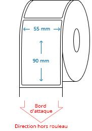 55 mm x 90 mm Étiquettes à rouleaux