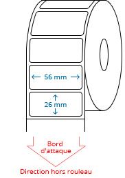 56 mm x 26 mm Étiquettes à rouleaux