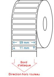 59 mm x 11 mm Étiquettes à rouleaux