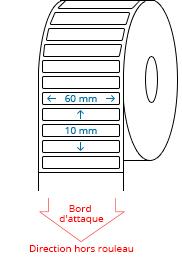60 mm x 10 mm Étiquettes à rouleaux