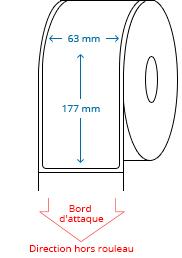 63 mm x 177 mm Étiquettes à rouleaux
