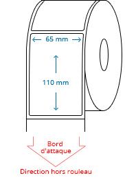 65 mm x 110 mm Étiquettes à rouleaux