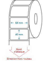 68 mm x 40 mm Étiquettes à rouleaux