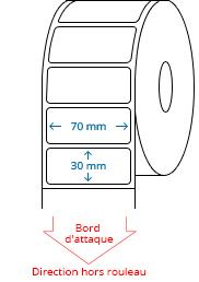 70 mm x 30 mm Étiquettes à rouleaux