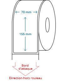 70 mm x 155 mm Étiquettes à rouleaux
