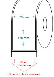 70 mm x 170 mm Étiquettes à rouleaux
