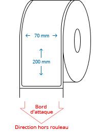70 mm x 200 mm Étiquettes à rouleaux