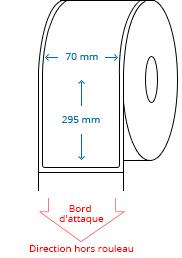 70 mm x 295 mm Étiquettes à rouleaux