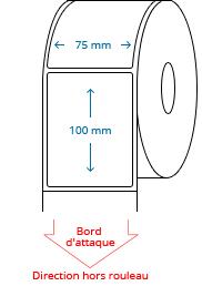 75 mm x 100 mm Étiquettes à rouleaux