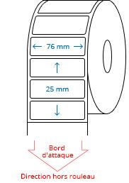 76 mm x 25 mm Étiquettes à rouleaux