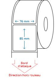 76 mm x 85 mm Étiquettes à rouleaux