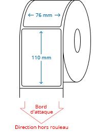 76 mm x 110 mm Étiquettes à rouleaux