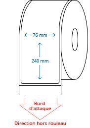 76 mm x 240 mm Étiquettes à rouleaux