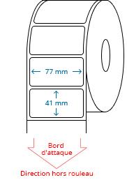 77 mm x 41 mm Étiquettes à rouleaux