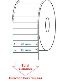 78 mm x 16 mm Étiquettes à rouleaux