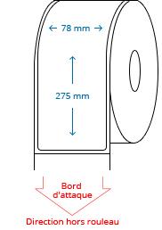 78 mm x 275 mm Étiquettes à rouleaux