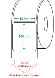 80 mm x 100 mm Étiquettes à rouleaux