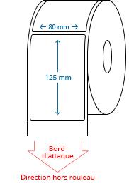 80 mm x 125 mm Étiquettes à rouleaux