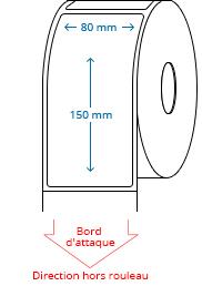 80 mm x 150 mm Étiquettes à rouleaux