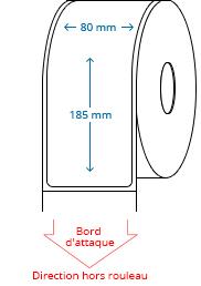 80 mm x 185 mm Étiquettes à rouleaux
