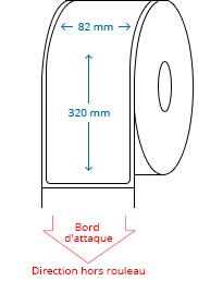82 mm x 320 mm Étiquettes à rouleaux