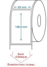 83 mm x 138.8 mm Étiquettes à rouleaux