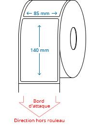 85 mm x 140 mm Étiquettes à rouleaux