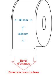 85 mm x 300 mm Étiquettes à rouleaux