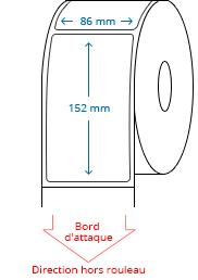 86 mm x 152 mm Étiquettes à rouleaux