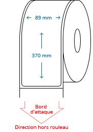 89 mm x 370 mm Étiquettes à rouleaux