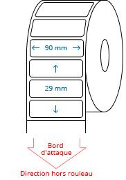 90 mm x 29 mm Étiquettes à rouleaux