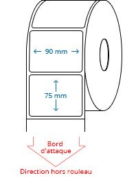 90 mm x 75 mm Étiquettes à rouleaux