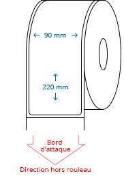 90 mm x 220 mm Étiquettes à rouleaux
