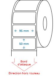95 mm x 50 mm Étiquettes à rouleaux